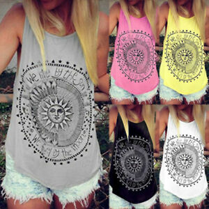 Women-Summer-Beach-Vest-Top-Sleeveless-Blouse-Casual-Tank-Loose-Tops-US