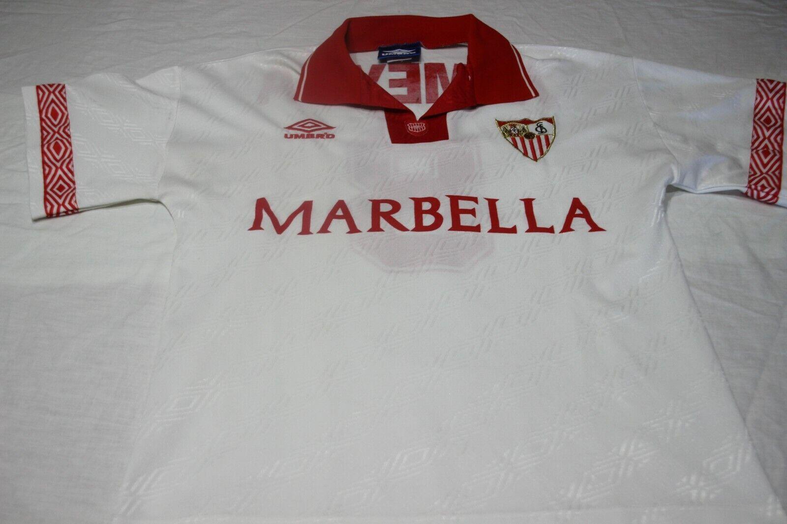 CAMISETA OFICIAL VINTAGE DEL SEVILLA FC UMBRO T S MARBELLA Nº 8 ALMEIDA SHIRT