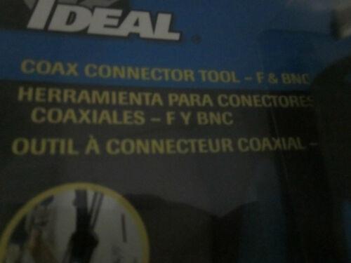 IDEAL 35-046 COAX CONNECTOR TOOL F /& BNC 3//8-32 THREAD END COAXIAL CABLES CATV