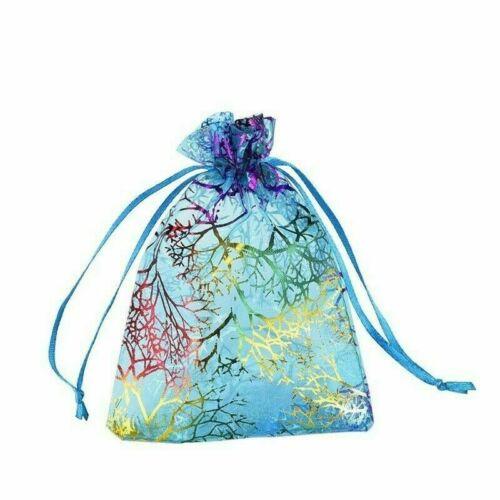 100 Teile 9 12cm Koralle Organza Kordelzug Tasche Hochzeit Party Candy Geschenke