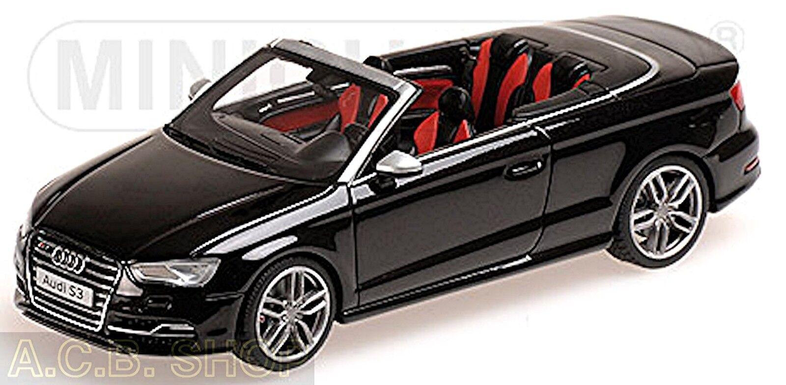 Audi S3 Cabriolet Type 8V 2014-15 noir noir 1 43 Minichamps