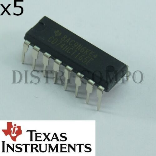 74HCT165 = CD74HCT165E 8 bit PISO shift register DIP-16 Texas lot de 5