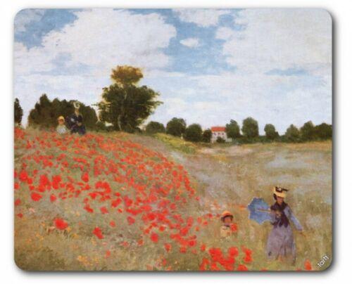 Claude Monet 23x19cm Mohnblumen Impressionismus Mauspad Mousepad #89126