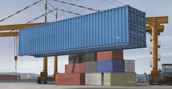 40ft Container 1 35 Plastic Model Kit TRUMPETER