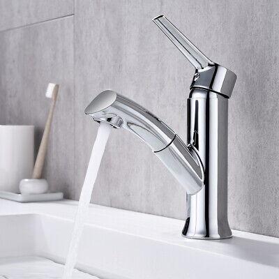 Waschtischarmatur Bad Ausziehbar Wasserhahn Waschbecken Badarmatur mit Brause