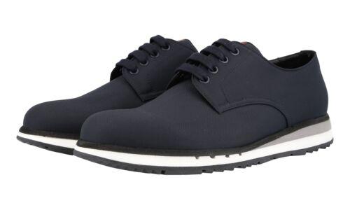 Luxueux 4e2502 Lacets 43 Prada Nouveaux 5 Bleu Chaussures A 43 9 qwIt5IS