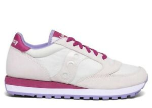 Saucony-Jazz-S1044-570-White-Berry-Donna-Scarpa-Casual-Sportiva