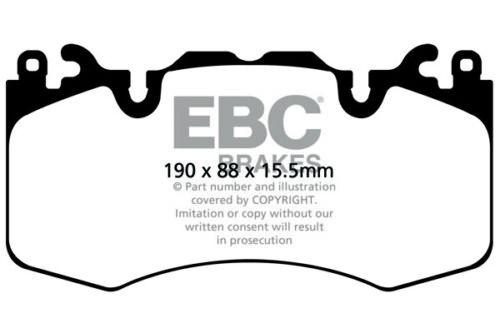 EBC Ultimax Front Brake Pads Range Rover Sport L494 4.4 TD 340HP 2014 on
