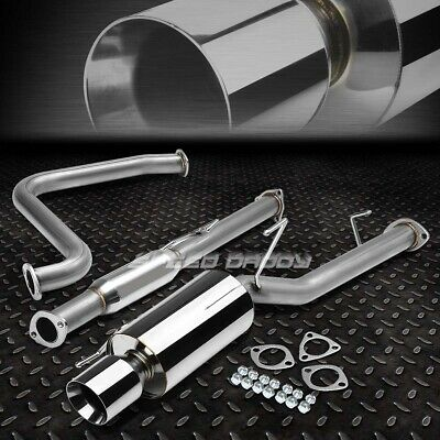 "4/"" ROLLED TIP MUFFLER PERFORMANCE CATBACK EXHAUST KIT FOR 00-03 MAXIMA A33 VQ"