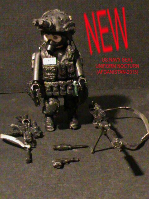 PLAYMOBIL CUSTOM   US. NAVY SEAL UNIFORM NOCTURN   AFGANISTAN-2015  REF-0170 BIS