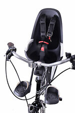 HAMAX CARESS OBSERVER MINI FRONT CHILD BIKE SEAT 15KG MAX KIDDIE GREY/ WHITE