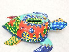 Wooden Batik Turtle Piggy Bank Money Saving Coin Hand Craft&Painted Wood #N1887