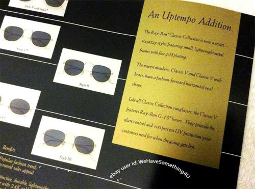 6a6dbea8c11e 2 of 3 Vintage Ray Ban Sunglasses Bausch   Lomb Classic Collection Salesman  Sheet USA