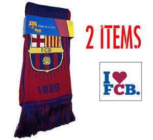 Image is loading Barcelona-scarf-Reversible-New-Season-sticker-Soccer-FC- 432979573b9