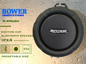 Details about Bower Innovations Rugged Bluetooth Speaker /w Builtin  Carabiner and Suction Cup
