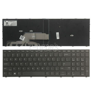 NEW-For-HP-Probook-450-G5-455-G5-470-G5-English-Keyboard-With-Frame