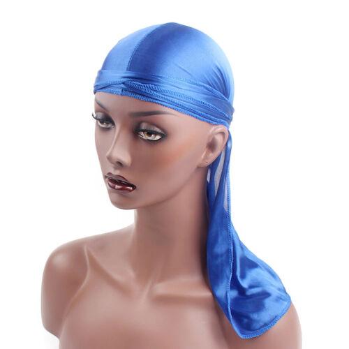 Fashion Unisex Long Tail Hat Women Men Bandana Turban Durag do doo du rag Cap