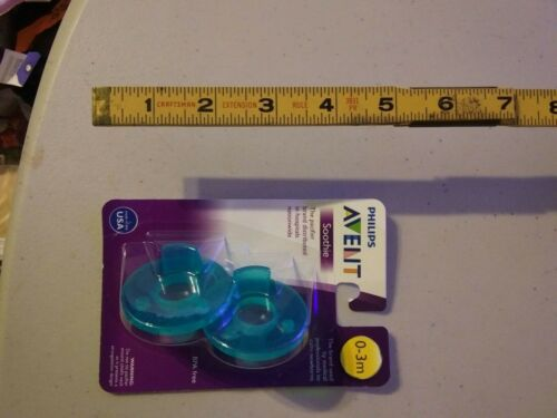 Philips AVENT BPA Free 0-3 Months 2 Pack Soothie Pacifier Green Sealed in Pack