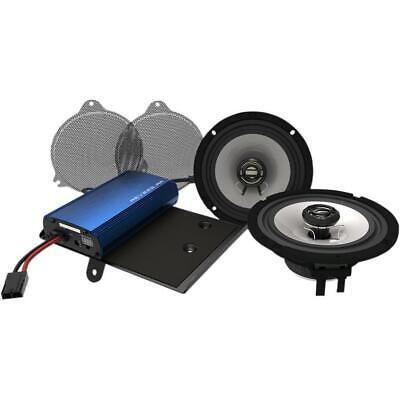 Hogtunes 225 Watt Amplifier and 6.5 Front Speaker Kit REV 225SG Kit-AA