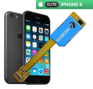 sim card for iphone 6 new magicsim elite for iphone 6 dual sim card adapter uk 3448