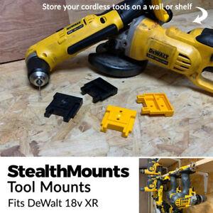 3x StealthMounts Tilt /& Slide outil de montage de CINTRES pour DeWALT Outils XR flexvolt