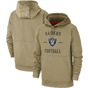 NFL-Oakland-Raiders-Football-Hoodie-2019-Salute-to-Service-Sideline-Pullover-Top