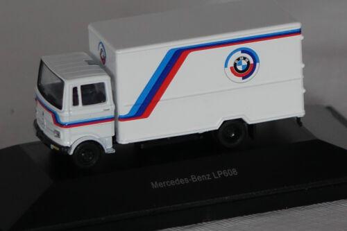 """Mercedes LP608 /""""BMW/"""" weiß 1:87 Schuco neu OVP 22373"""