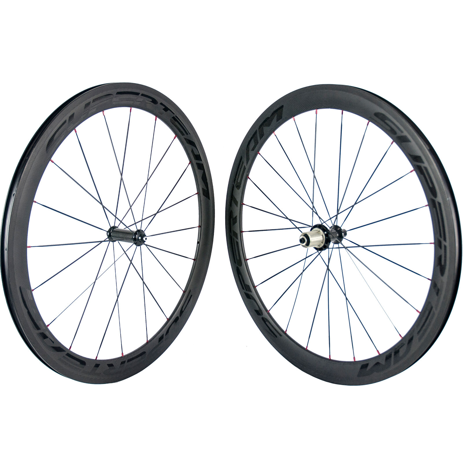 SUPERTEAM Carbon Road Wheelset  Clincher 50mm Bicycle Carbon Wheel R36 Red Nipple  save up to 70% discount