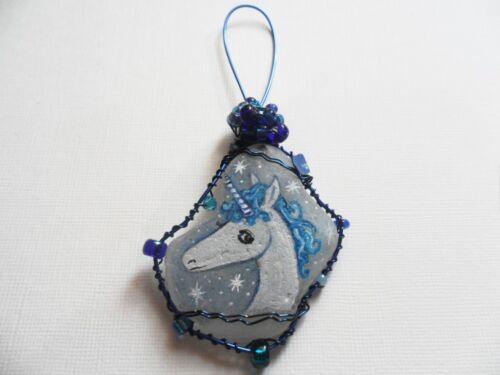 Cheeky fat penguin Hand painted sea beach glass christmas tree decoration