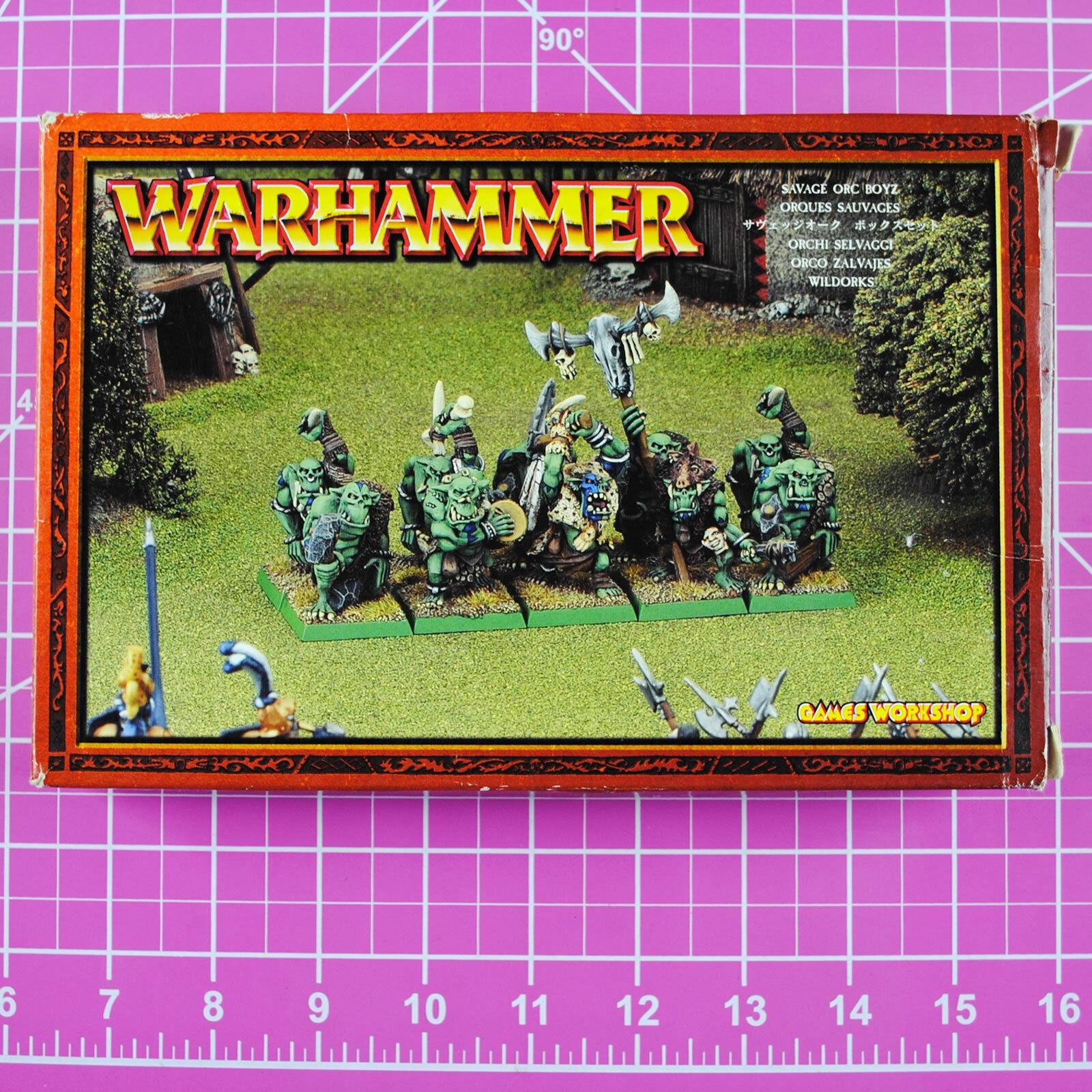 Warhammer fantasy, wilde ork - boyz, metall - games workshop zitadelle orks kobolde