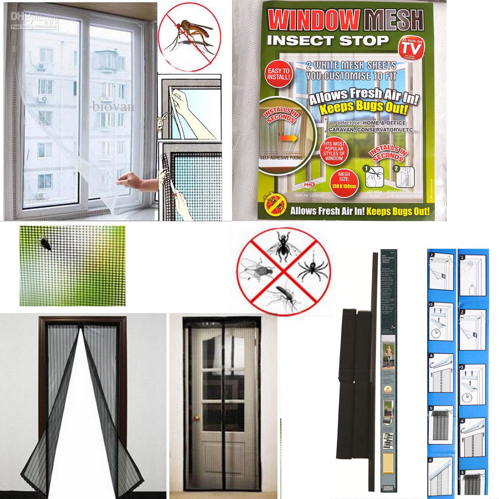 Fenêtre noire maille Insect Stop, rideaux, stores, bricolage, accessoires, maison, maison, accessoires, bureau nouveau ca78b9