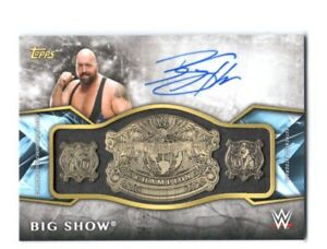 WWE-Big-Show-2017-Topps-Legends-Belt-Plate-Autograph-Relic-Card-SN-80-of-99