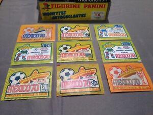 9 Panini Mexico 70  Packets Bustina ....