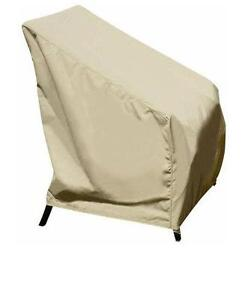 Club lounge chair canvas outdoor patio furniture cover for Canvas garden furniture covers