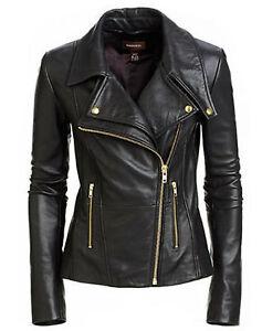 style Veste noir motard cuir en pour véritable femmes de 1qIZqH