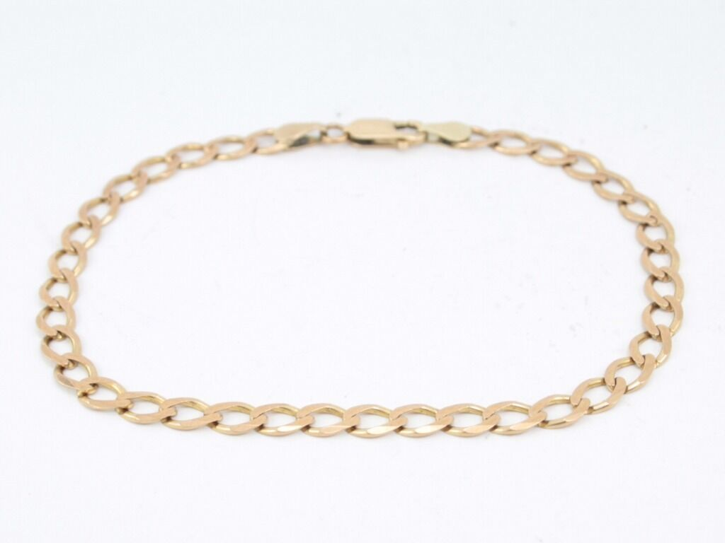 Curb Chain Bracelet Solid 9ct gold Ladies Gents Ideal Gift 375 E73
