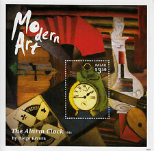Palau 2014 MNH Modern Art 1v S/S II Paintings Alarm Clock by Diego Rivera