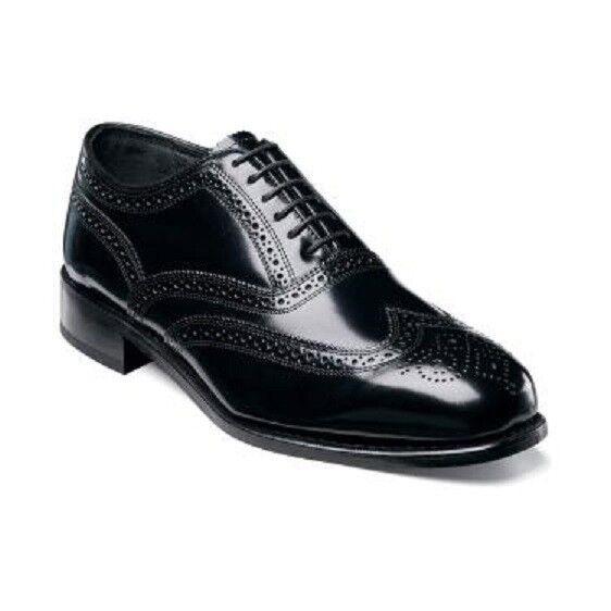 Florsheim Lexington para Hombre Zapatos Negro Cuero Clásico de extremo de ala 17066-01 todos los tamaños