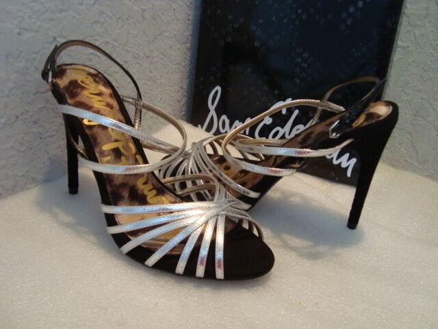 Sam Edelman Damenschuhe NWB Harlette Silver Patent Sandale Schuhes 6.5 MED NEW
