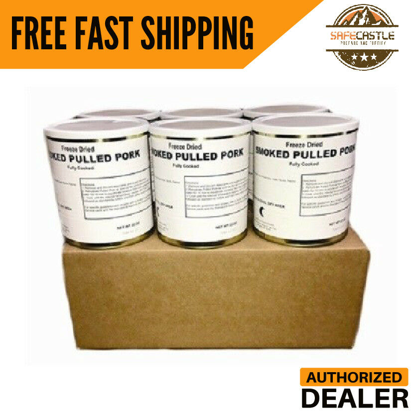 Military Food Surplus Freeze Dried Pulled Pork, Free Shipping
