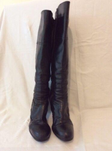 Botte 40 genou noir taille Maker cuir ᄄᄂ hauteur en Jones du sBhrdxQCt
