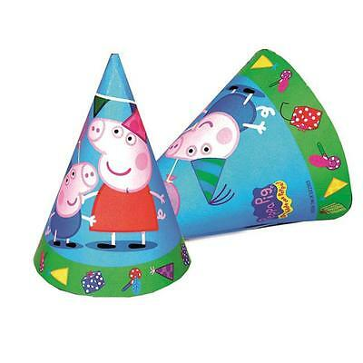 Peppa Pig Party Cone Hats x 6