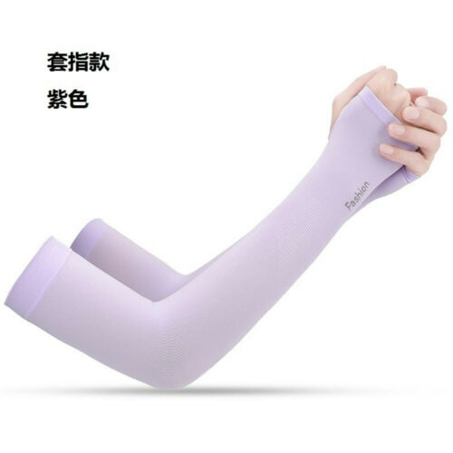 Cooling Athletic Sport Skins Arm Sleeves Gloves Sun Protective UV Cover Cycling^