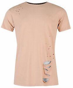 Fabric-Men-039-s-T-Shirt-034-Holes-Pink-034-New