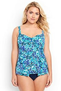 b5b1b71fb8 LANDS' END Plus 20W, 22W Shaping Underwire V-neck Tankini Swimsuit ...