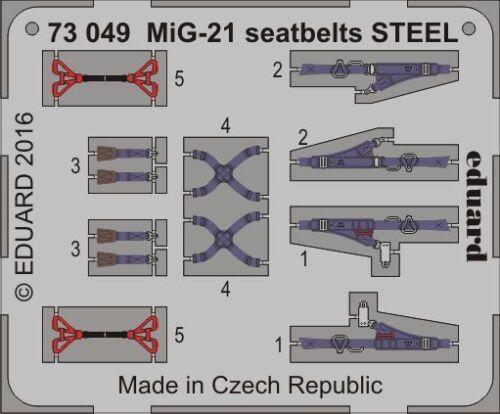 Ätzsatz Neu Eduard Accessories 73049-1:72 Mig-21 Seatbelts Steel