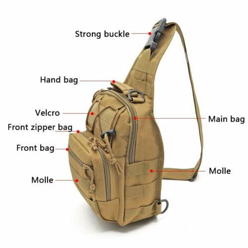 Outdoor Tactical Military Rucksack Trekking Sling Chest bag Camping Hiking Bag
