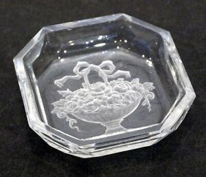 Antique Heinrich Hoffmann Art Deco Amethyst intaglio Glass