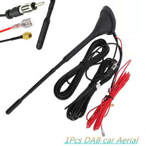 Universal-DAB-Roof-Mount-Antenna-Kit-DAB-FM-AM-GPS-Amplified-Aerial-Connector