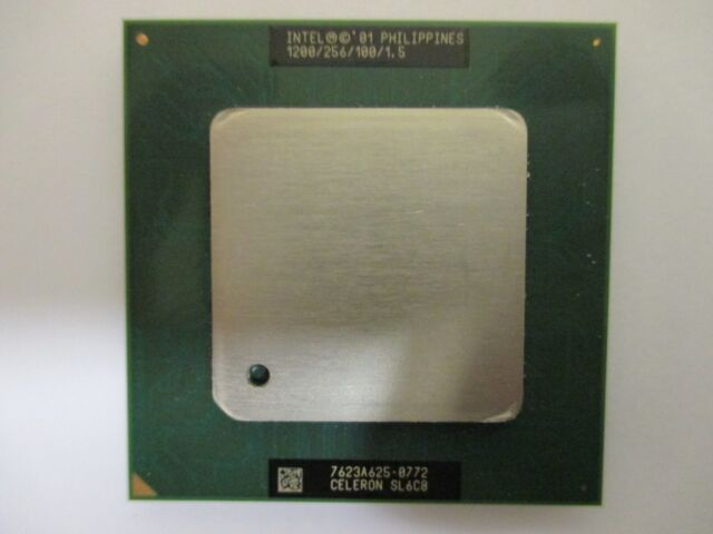 NEW !! INTEL 1200/256/100/1.5   CELERON  SL6C8  SOCKET 370 CPU - New Surplus